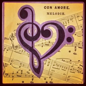 Con Amore Clef Heart Collage
